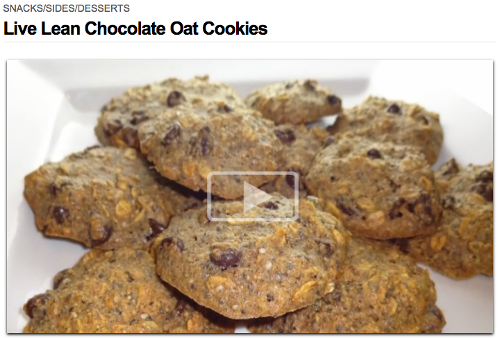Live Lean Chocolate Oat Cookies
