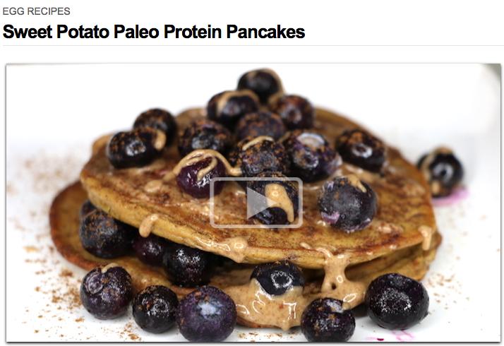 Sweet Potato Paleo Protein Pancakes