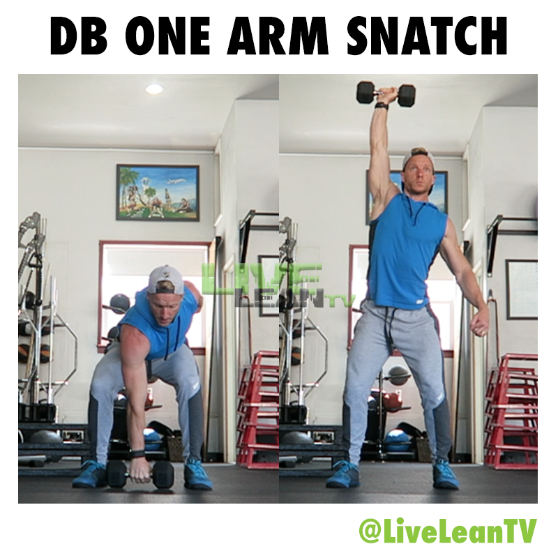 Dumbbell One Arm Snatch