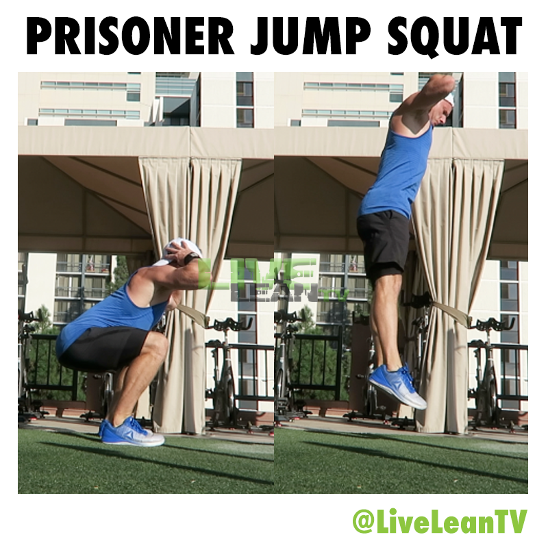 Prisoner Jump Squat