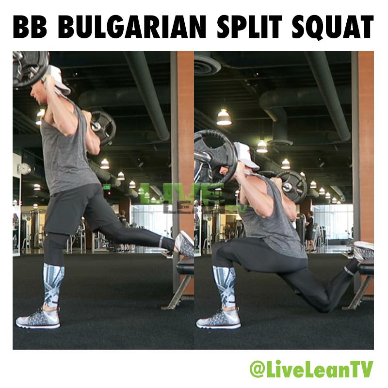 Barbell Bulgarian Split Squat