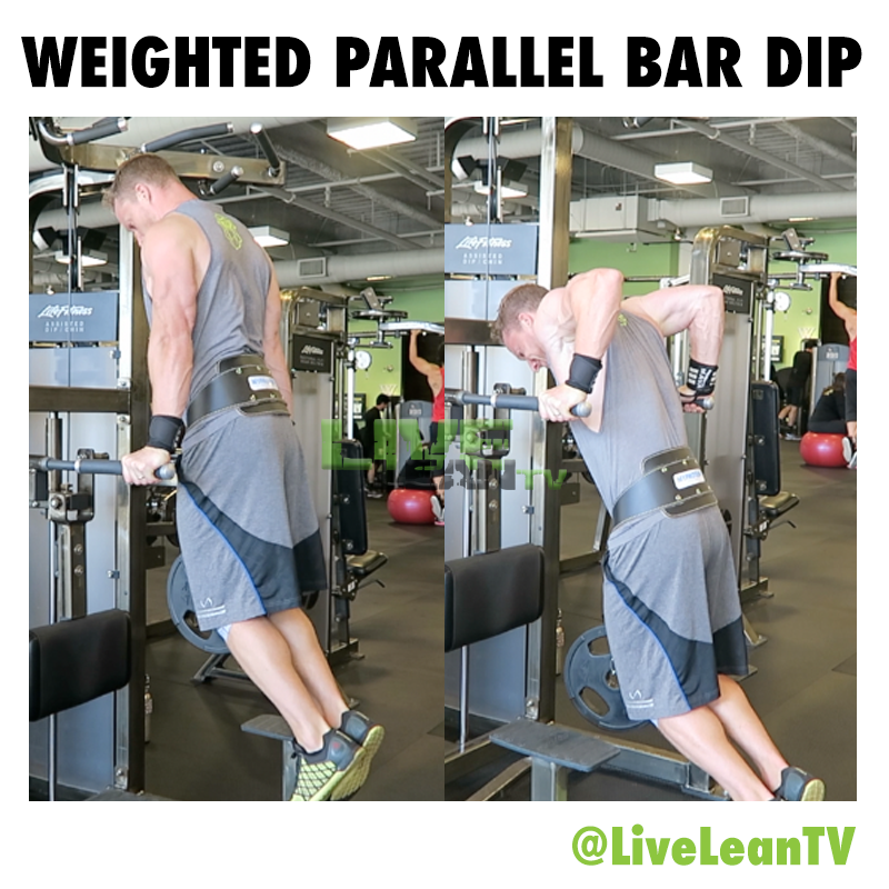 Weighted Parallel Bar Dip
