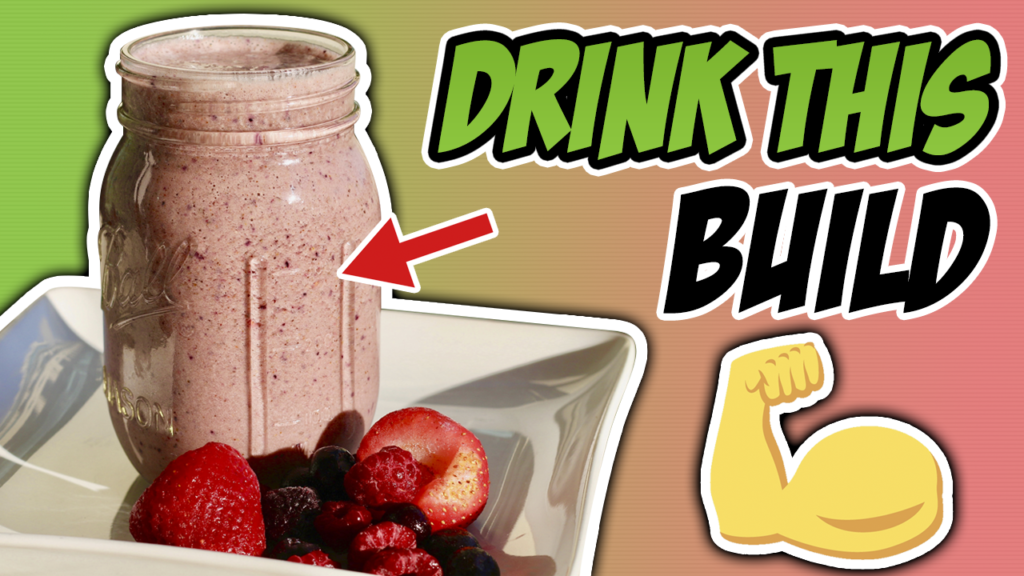 Peanut Butter and Jelly Post-Workout Muscle Building Protein Shake Recipe