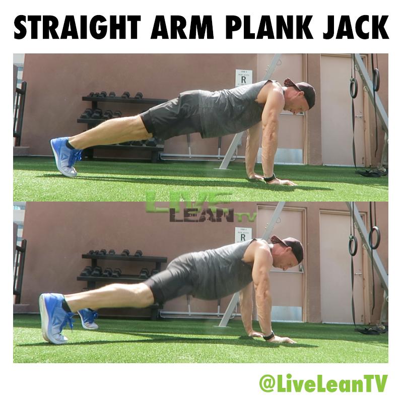 Straight Arm Plank Jack