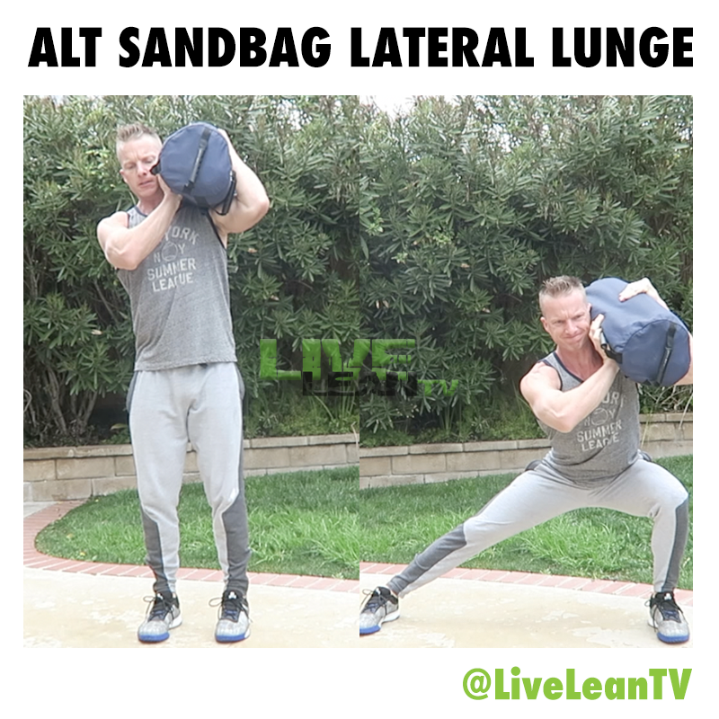 alternating Sandbag Lateral Lunge