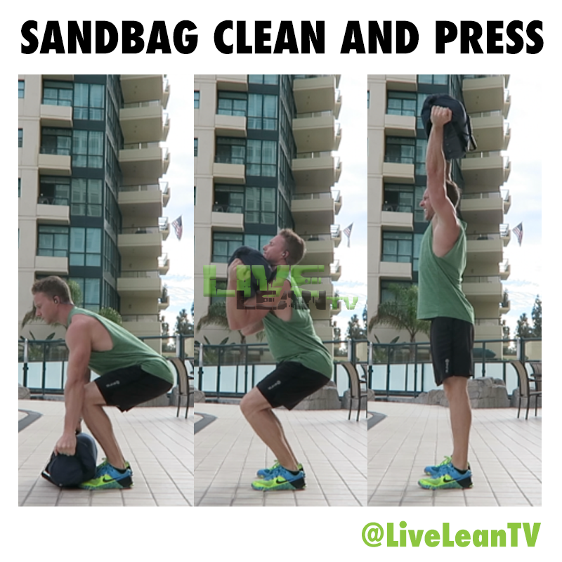 sandbag clean and press