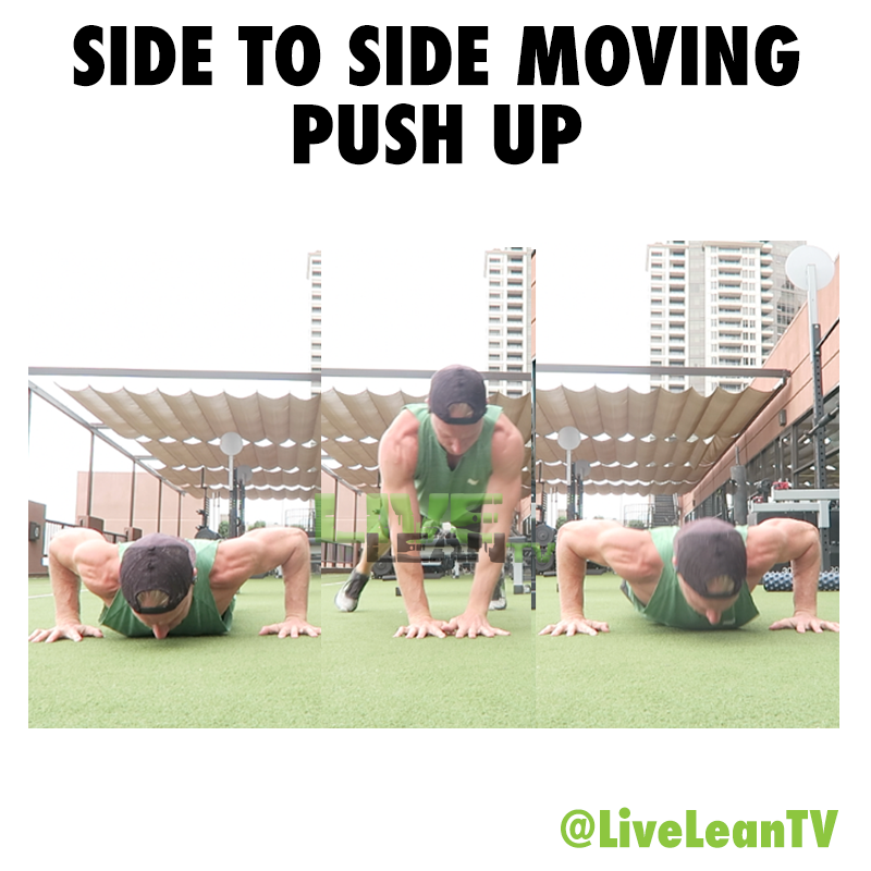 Side To Side Moving Push Up