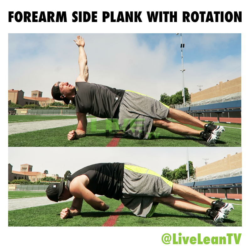 Forearm Side Plank with Rotation