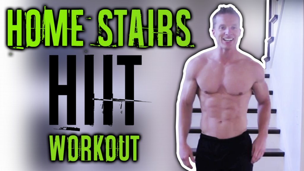 20 Minute HIIT Cardio Home Stairs Workout For Fat Loss