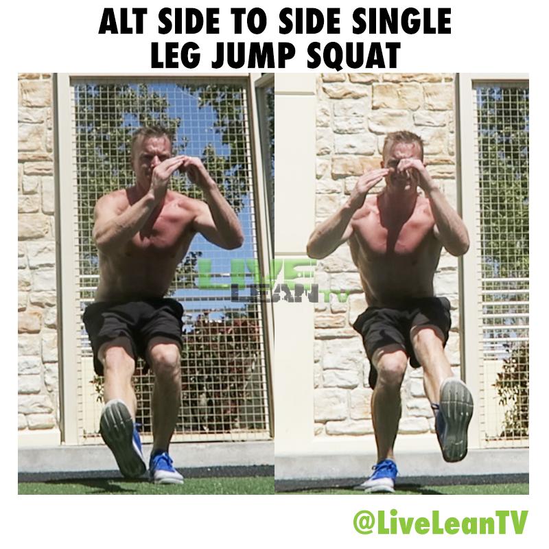Alternating Side To Side Single Leg Jump Squat