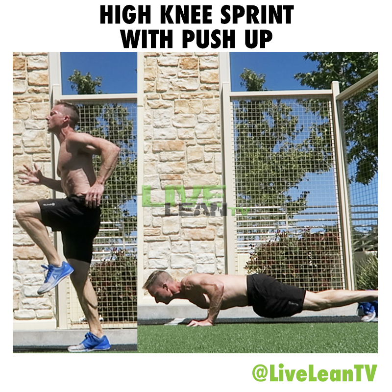 High Knee Sprint With Push Up