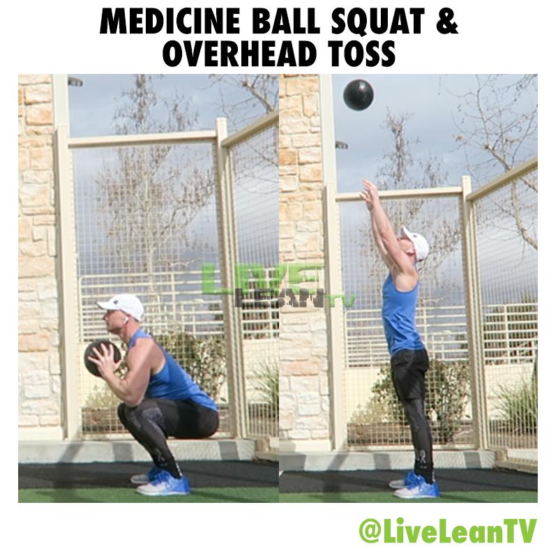 Medicine Ball Squat And Overhead Toss