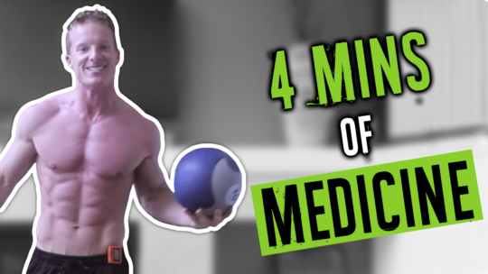 4 Minute Full Body Medicine Ball Tabata Workout To Burn Fat
