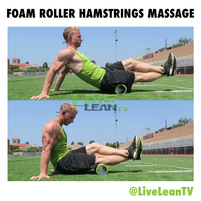 Foam Roller Hamstring Massage