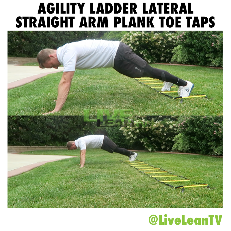 Agility Ladder Lateral Straight Arm Plank Toe Taps