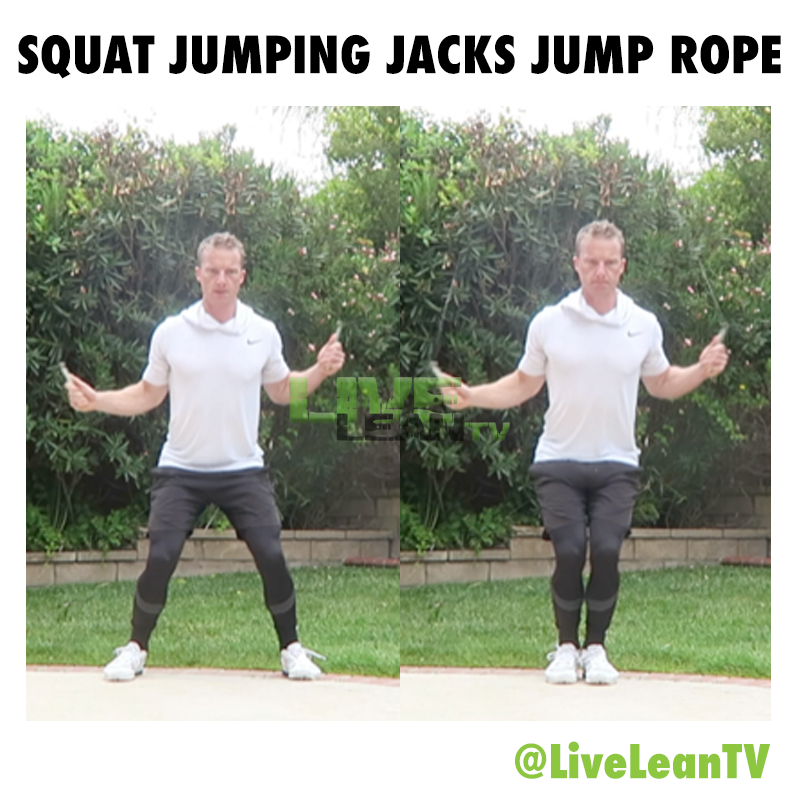 Squat Jumping Jacks Jump Rope
