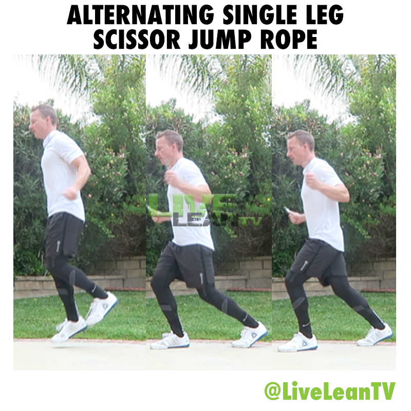 Alternating Single Leg Scissor Jump Rope