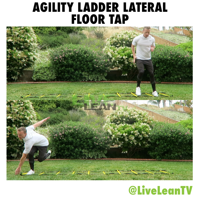 Agility Ladder Lateral Floor Tap