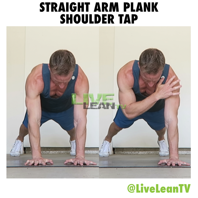 Straight Arm Plank Shoulder Tap