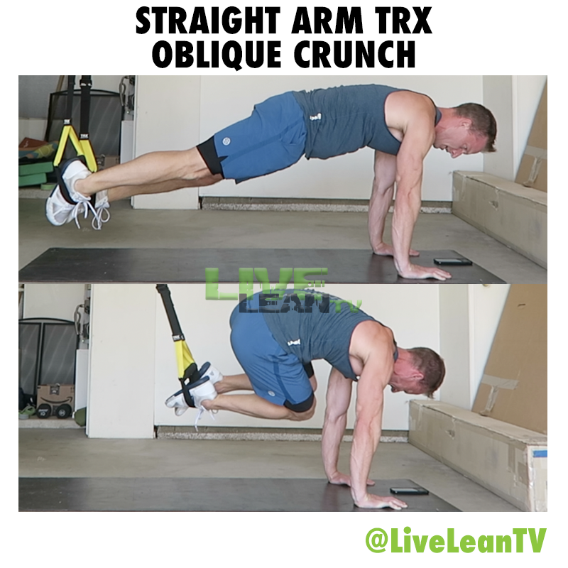 Straight Arm TRX Oblique Crunch