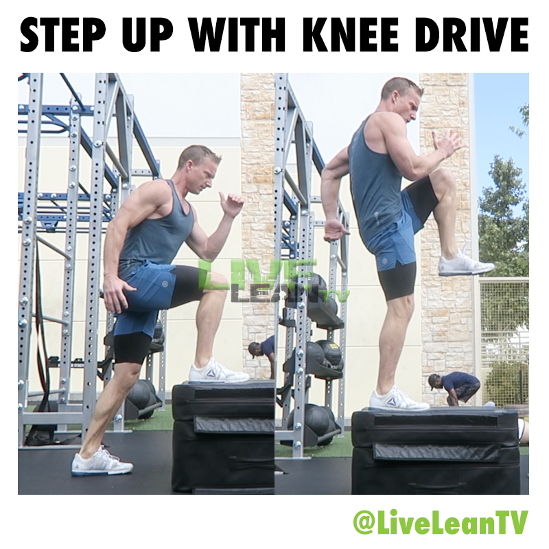 Step Up With Knee Drive