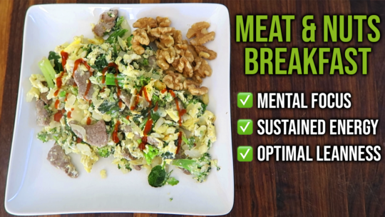 How To Make A Meat And Nuts Breakfast Recipe