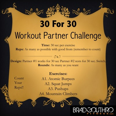30 For 30 Workout Challenge
