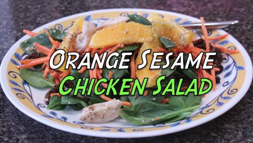 Orange Sesame Chicken Salad