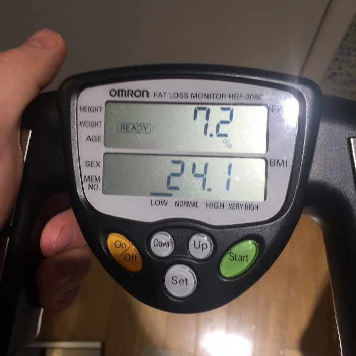 Brad Gouthro body fat %