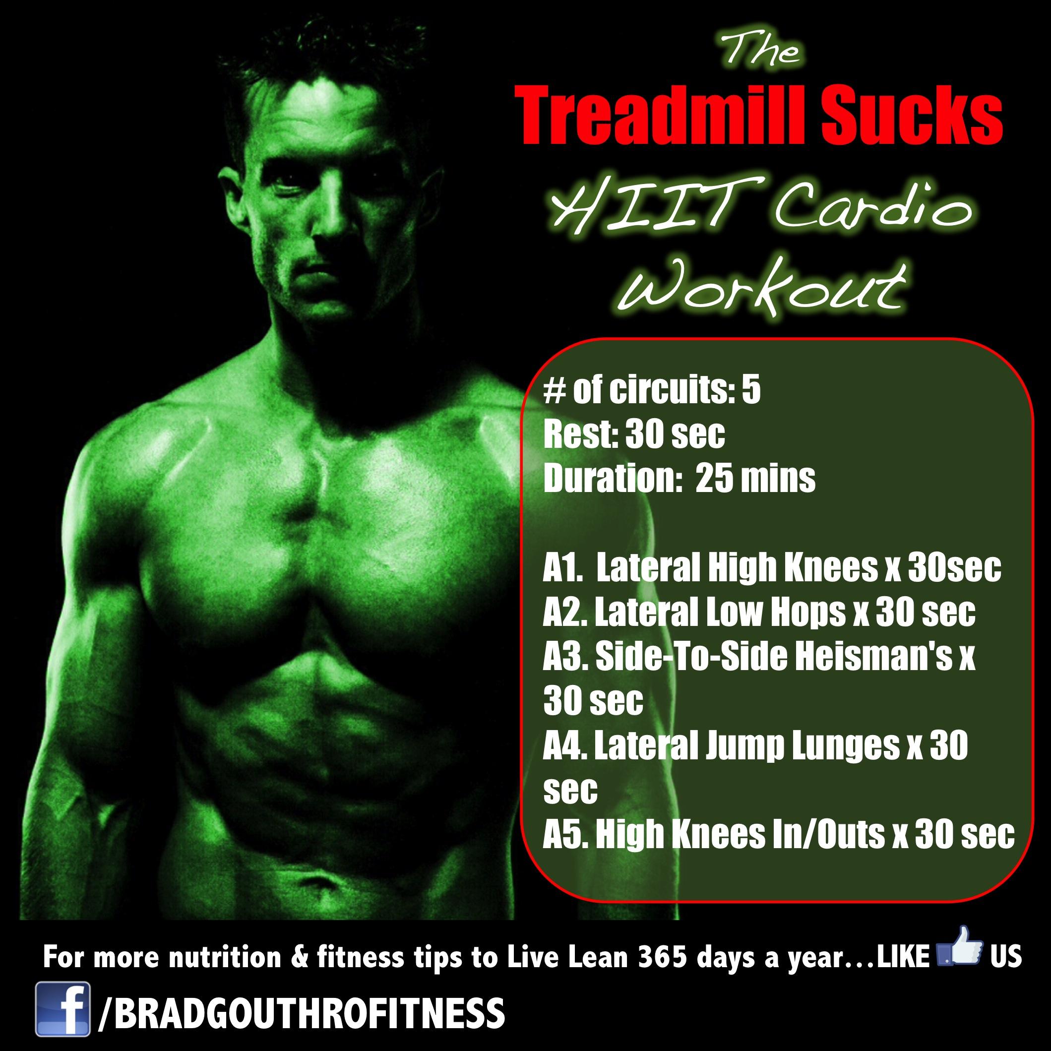The Treadmill Sucks HIIT CARDIO workout routine