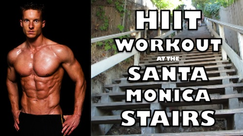 20 Minute HIIT Stairs Workout At The Santa Monica Stairs
