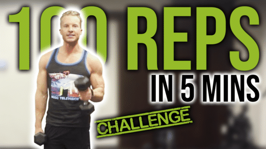 5 Minute 100 Reps Dumbbell Workout Challenge