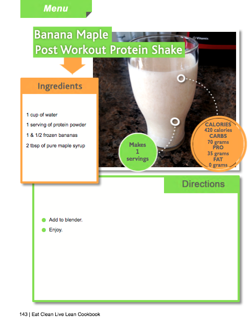 Banana Maple Post Workout Protein Shake