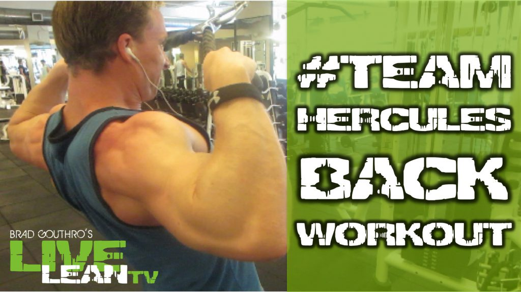 The NEW #TEAMHERCULES Back Workout