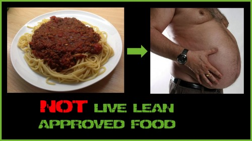 Not Live Lean Approved Food