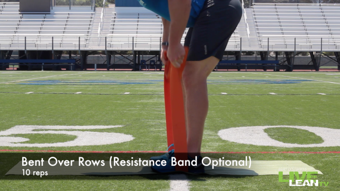 Bent Over Rows (Resistance Band Optional)