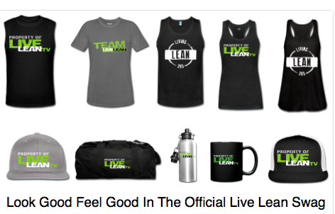 Live Lean TV Merchandise and Clothing