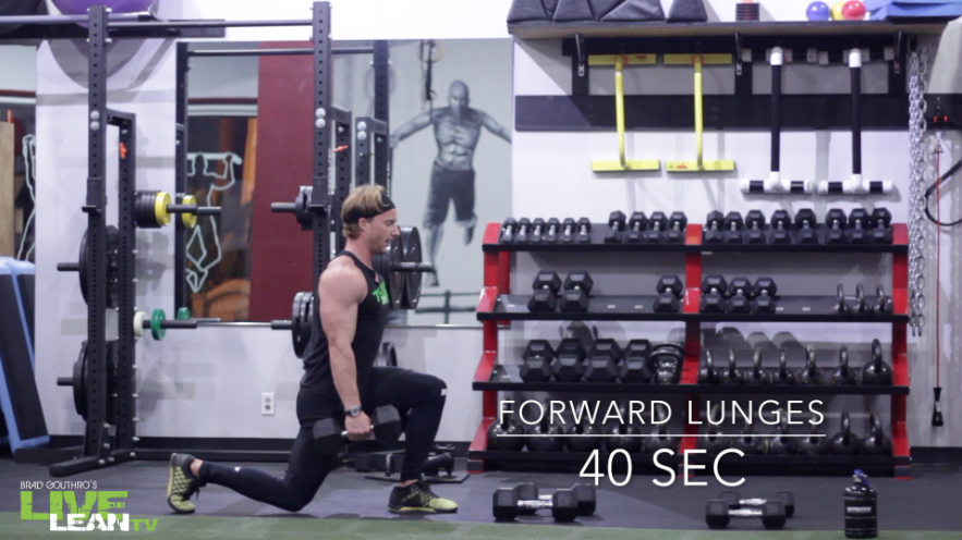 Dumbbell Forward Lunges