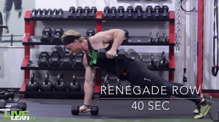 Dumbbell Renegade Rows (with Pushup)