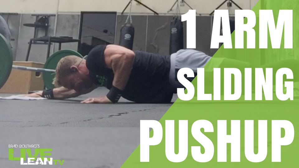 1 arm sliding pushup