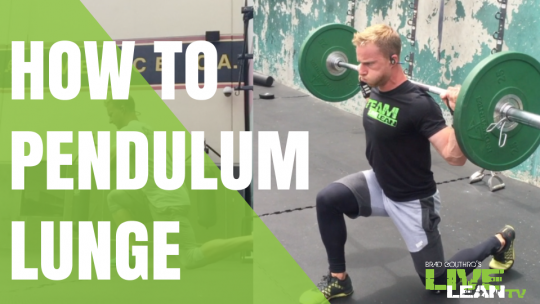 How To Do A PENDULUM LUNGE | Barbell & Bodyweight Lunge Variation