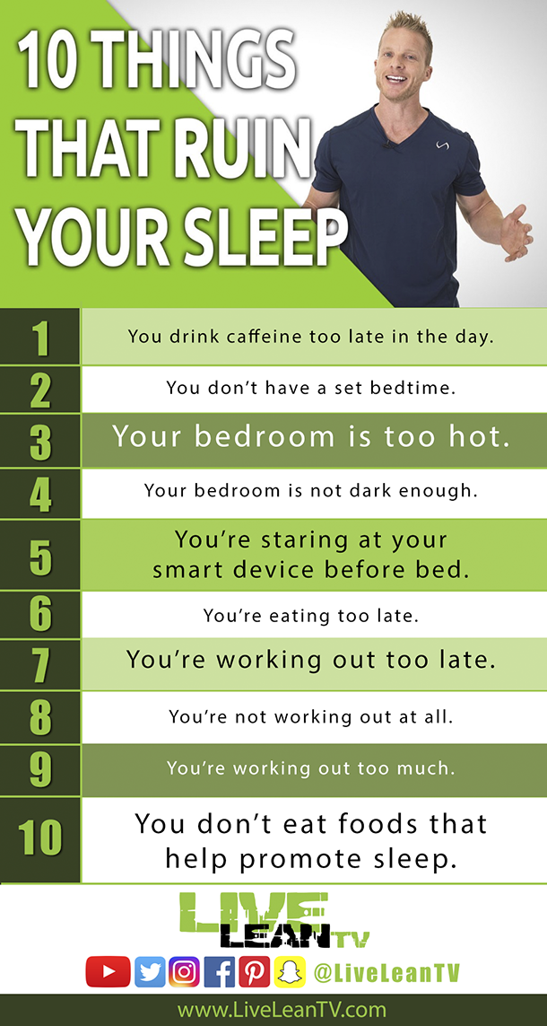 10 things that ruin your sleep
