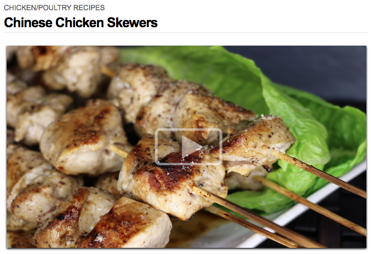 Chinese Chicken Skewers