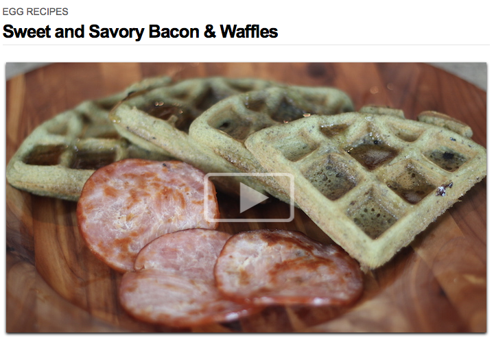 Sweet and Savory Bacon and Waffles
