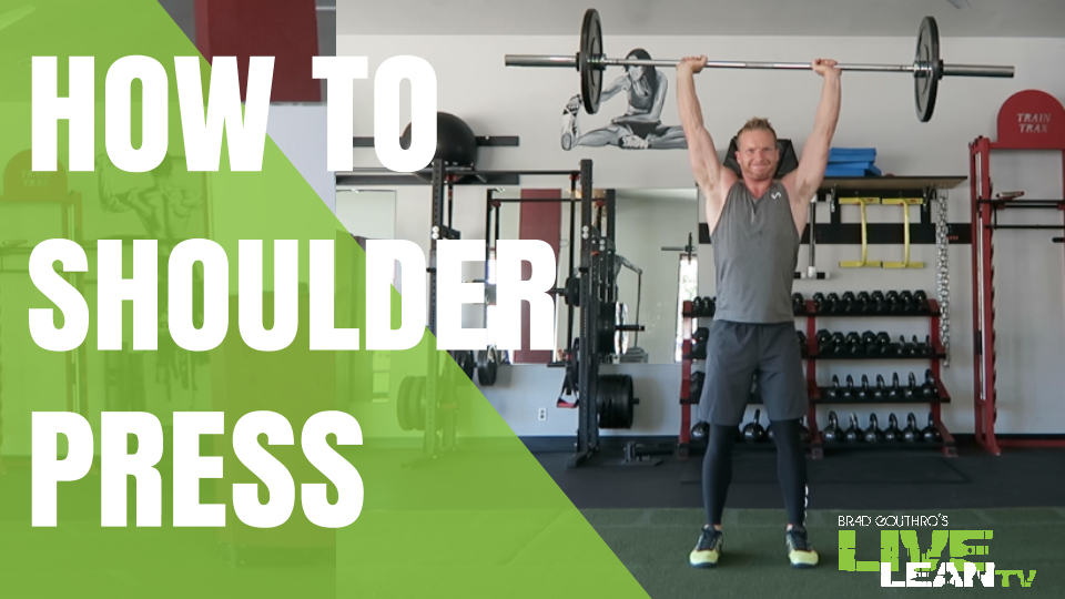 How To Do A Standing Barbell Shoulder Press | Exercise Video and Guide