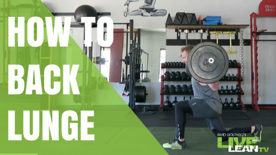 How To Do A Barbell Backward Lunge | Exercise Video and Guide