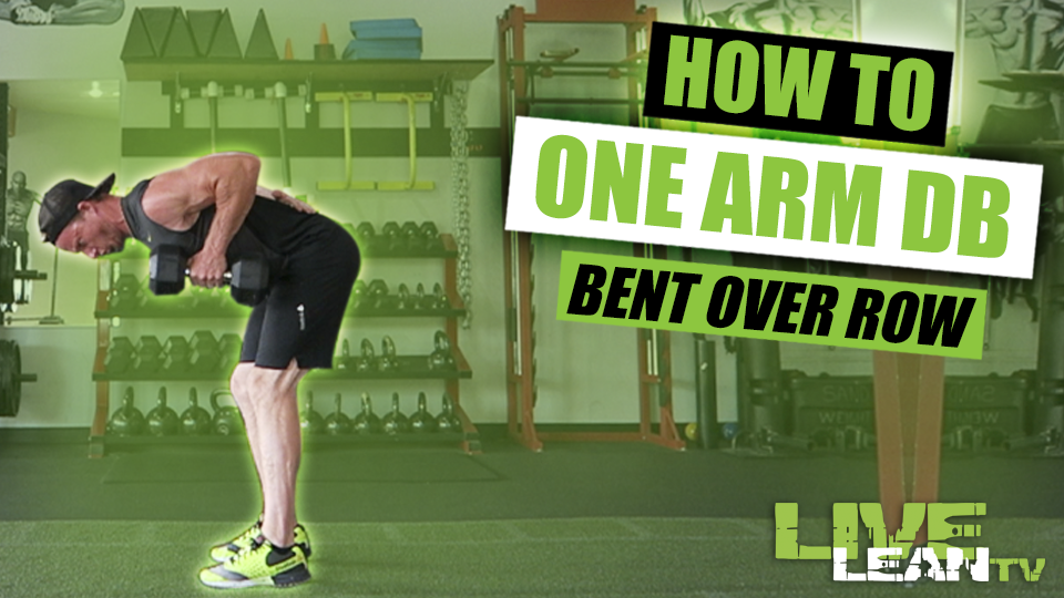 How To Do A Standing One Arm Dumbbell Bent Over Row | Exercise Guide and Video