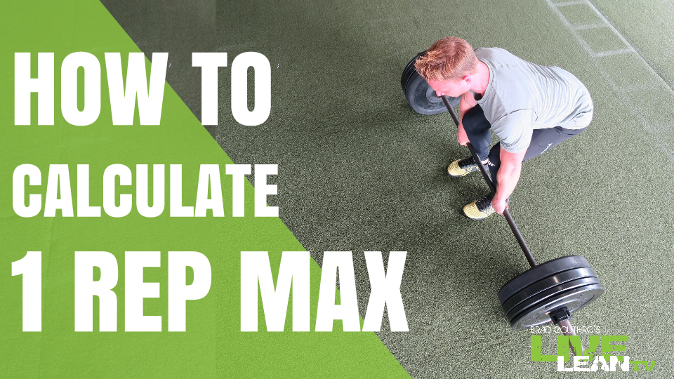 How To Calculate One Rep Max