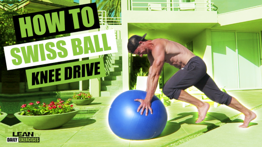 How To Do A SWISS BALL KNEE DRIVE   Exercise Demonstration Video and Guide