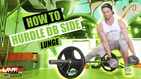 How To Do A HURDLE DUMBBELL SIDE LUNGE | Exercise Demonstration Video and Guide